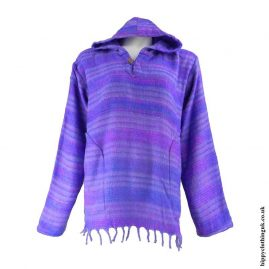 Acrylic-Blanket-Material-Hooded-Hippy-Top-Lilac