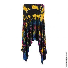 Black-Multicoloured-Tie-Dye-Pixie-Hem-Skirt