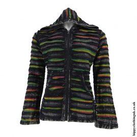 Black-Ripped-Look-Hooded-Jacket