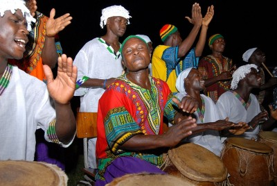 Dashiki Shirts worn by African Drummers