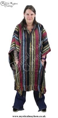 Female cotton Poncho, Hippy Poncho