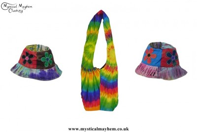 Tie Dye Hats and Bag
