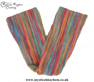 Long Stretchy Knitted Cotton Hippy Head band Multicoloured