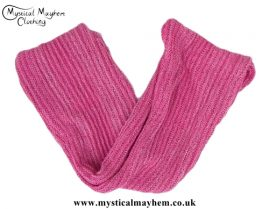 Long Stretchy Knitted Cotton Hippy Head band Pink