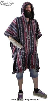 Male cotton Poncho, Hippy Poncho