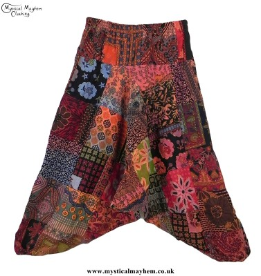 Multicoloured Cotton Hippy Style Patctwork Harem Ali Baba Trousers