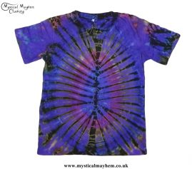 Multicoloured Cotton Tie Dye Hippy T-Shirt