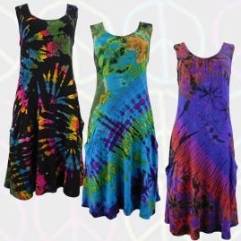Stretchy Tie Dye Hippy Dress