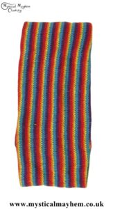 Standard Stretchy Knitted Cotton Hippy Head band Multicoloured