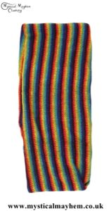 Standard Stretchy Knitted Cotton Hippy Head band Spacedye Rainbow