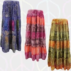 Tie Dye Panel Skirts