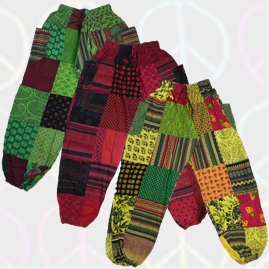 Colourful Patchwork Harem Trousers