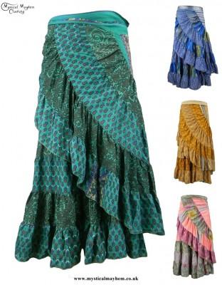 Recycled Sari Gypsy Wrap Skirts