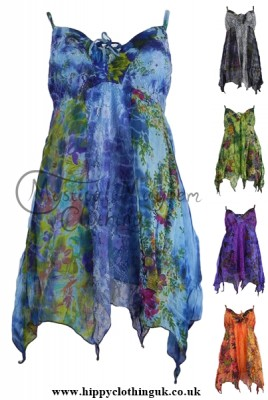 Fair Trade Pixie Clothing - Tie Dye Pixie Blouse Top