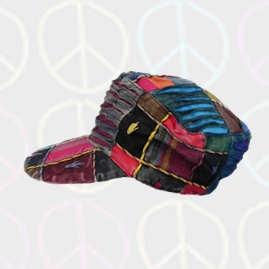 Multicoloured Embroidery Patchwork Baseball Caps