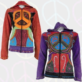 Embroidery Patchwork Peace Jackets