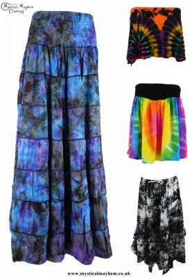 Fair Trade Tie Dye Skirts