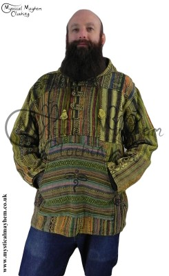 Patchwork Gheri Jacket worn by Hippy Sy