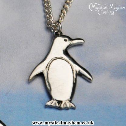 Handmade english pewter small penguin pendant necklace mystical handmade english pewter small penguin pendant necklace mozeypictures Images