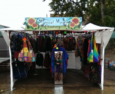 Mystical Mayhem Hippy Clothing Stall@ Cider in The Barn