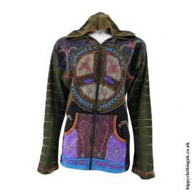 Olive-Peace-Sign-Embroidery-Jacket