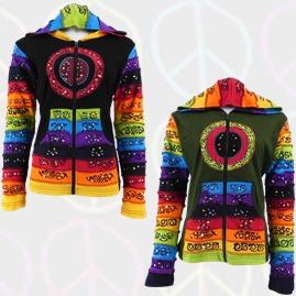 Circle Hooded Rainbow Jackets
