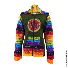 Green-Rainbow-Circle-Hooded-Jacket