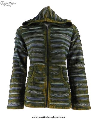 green-ripped-look-cotton-hooded-hippy-jacket-with-mixed-colours