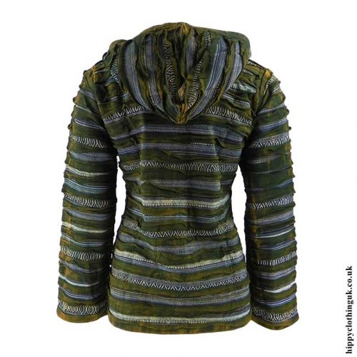 Green-Ripped-Look-Hooded-Jacket-Back