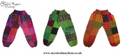 Ladies Hippy Patchwork Harem Trousers (Thin Cotton)