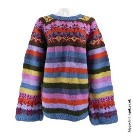 Multicoloured-Striped-Wool-Swedish-Style-Jumper
