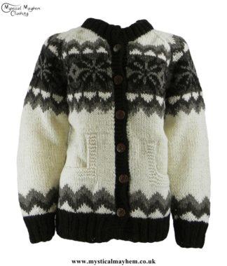 nepalese-cream-wool-cardigan