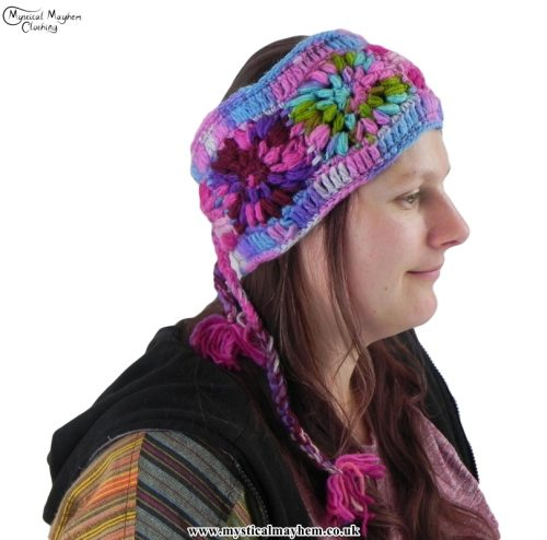 pink-hand-knitted-hippy-wool-headband-with-fleece-lining