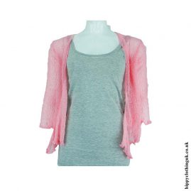 Bright-Baby-Pink-Bali-Knit-Shrug