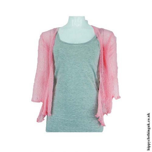 Bright-Baby-Pink-Bali-Knit-Shrug