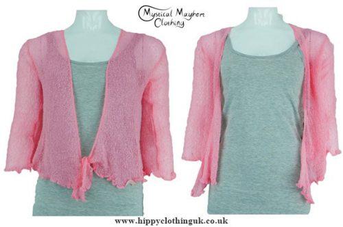 bright-baby-pink-hippy-festival-shrug-cardigan