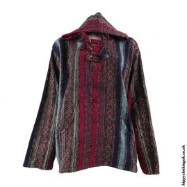 Colour-Mix-Thick-Weave-Hooded-Jacket