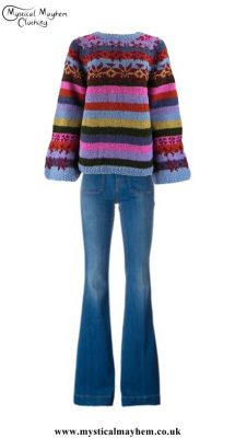 Ladies Hippy Outfit -Sassy in Stripes