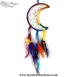 rainbow-colours-crescent-moon-dreamcatcher