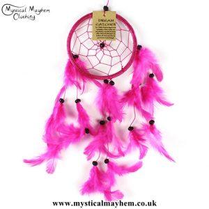 small-pink-nylon-round-dreamcatcher