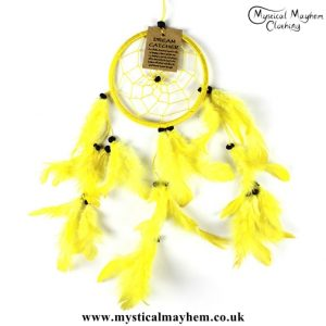small-yellow-nylon-round-dreamcatcher