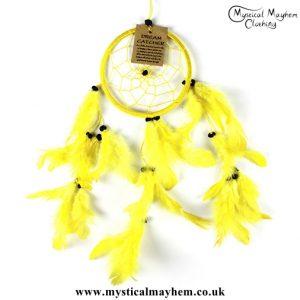 small-yellow-nylon-round-dreamcatcher
