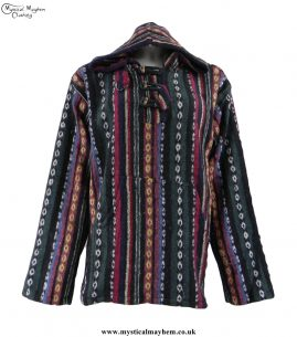 thick-weave-brush-cotton-hippy-pullover-jacket-green-and-mixed-colours