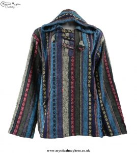 thick-weave-brush-cotton-hippy-pullover-jacket-turquoise-colour-mix