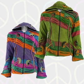 Fleece Lined Pixie Hooded Mushroom Jacket