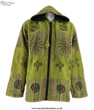 cotton-patchwork-hooded-hippy-jacket-green