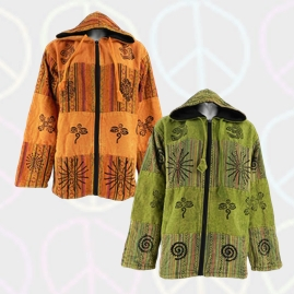 Cotton Patchwork Jacket with Gheri Material