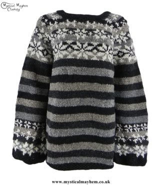 nepalese-striped-wool-jumper-swedish-style-black-gray