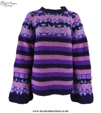 nepalese-striped-wool-jumper-swedish-style-purple