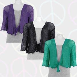 3/4 Length Sleeve Bali Knit Shrug/Cardigan